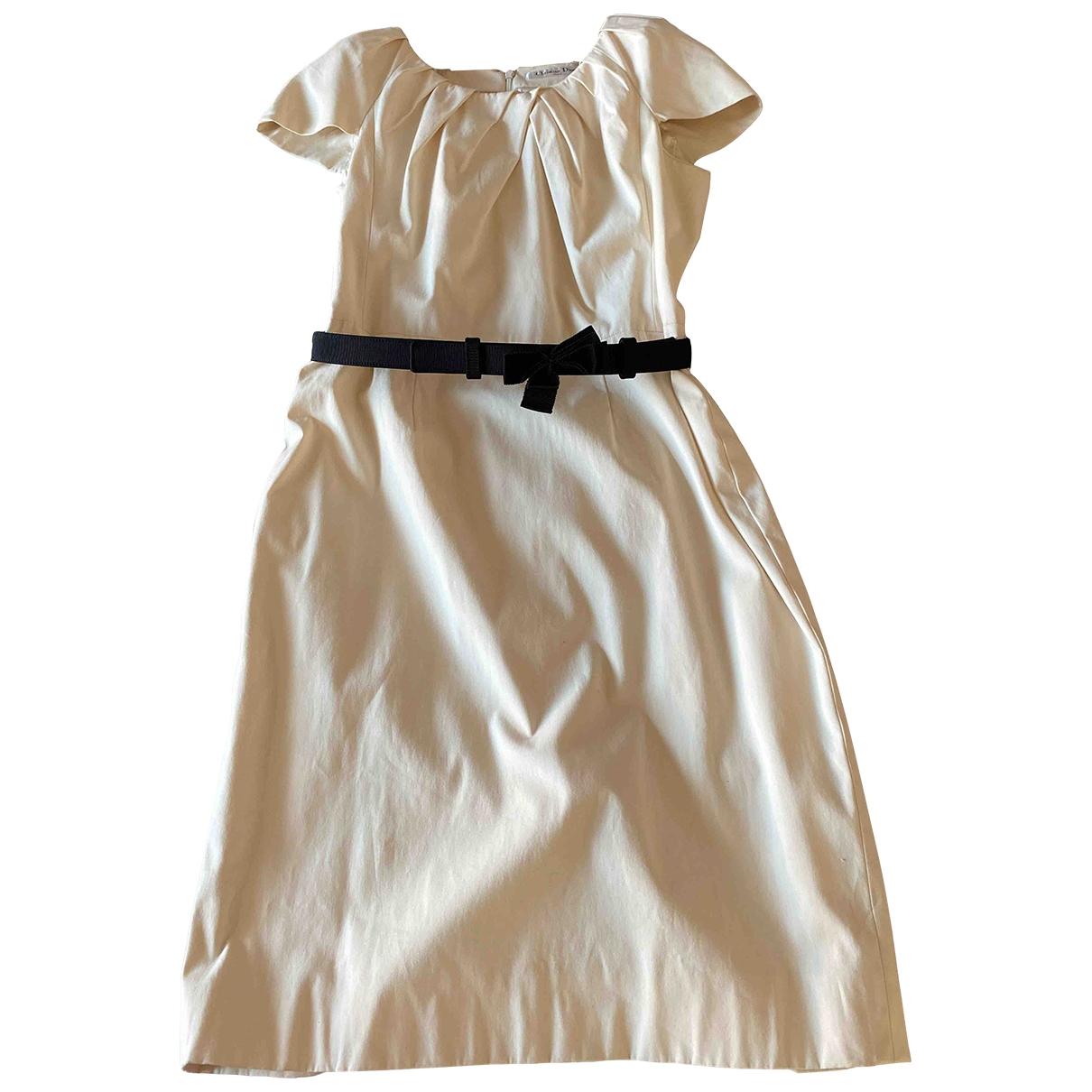 Dior - Robe   pour femme en coton - beige