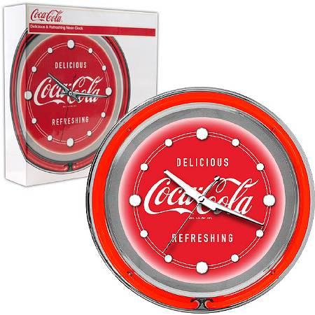 Trademark Global Coca Cola Neon Clock - Delicious Refreshing - Two Neon Rings - 1.0 ea