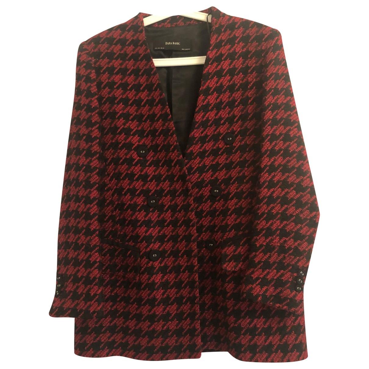 Zara \N Jacke in  Rot Polyester