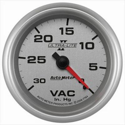 Auto Meter Ultra-Lite II Vacuum Gauge - 7784