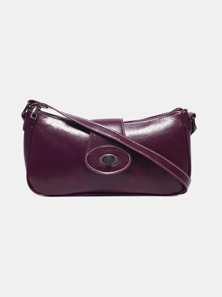 Women Lock Solid Casual Shoulder Bag