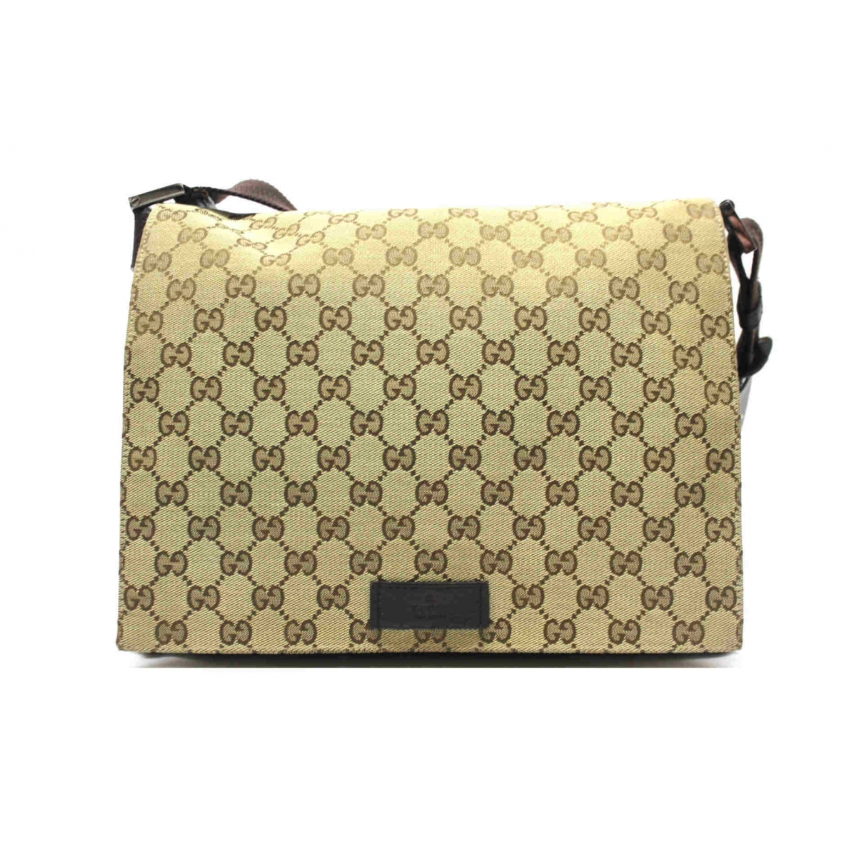 Gucci \N Beige Cloth bag for Men \N