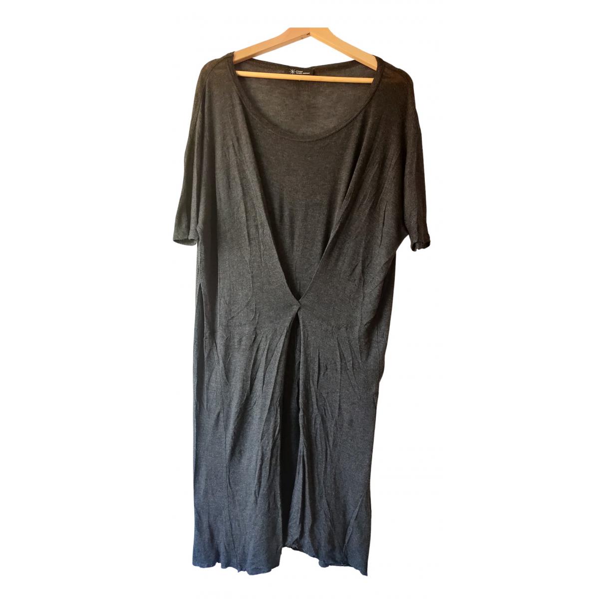Isabel Marant Etoile \N Kleid in  Anthrazit Baumwolle - Elasthan