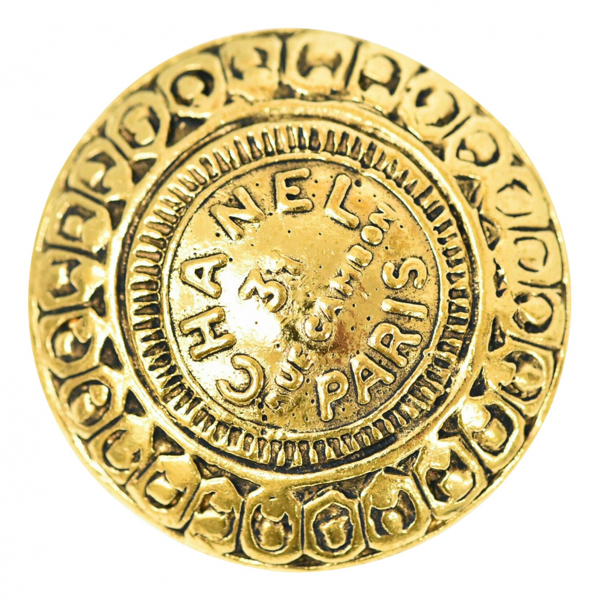 Broche en Metal Dorado Chanel