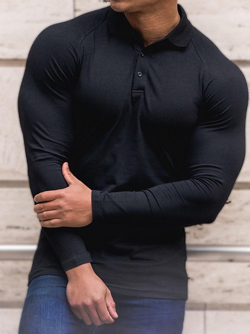 Ericdress Casual Lapel Plain Polo Shirt