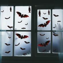 Halloween Bat Print Wall Sticker