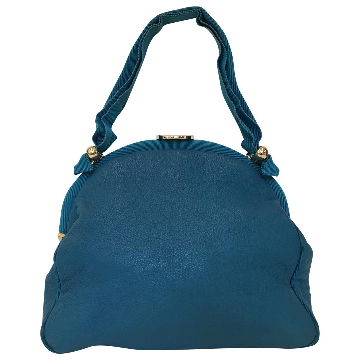 Emporio Armani - Sac a main   pour femme en cuir - bleu