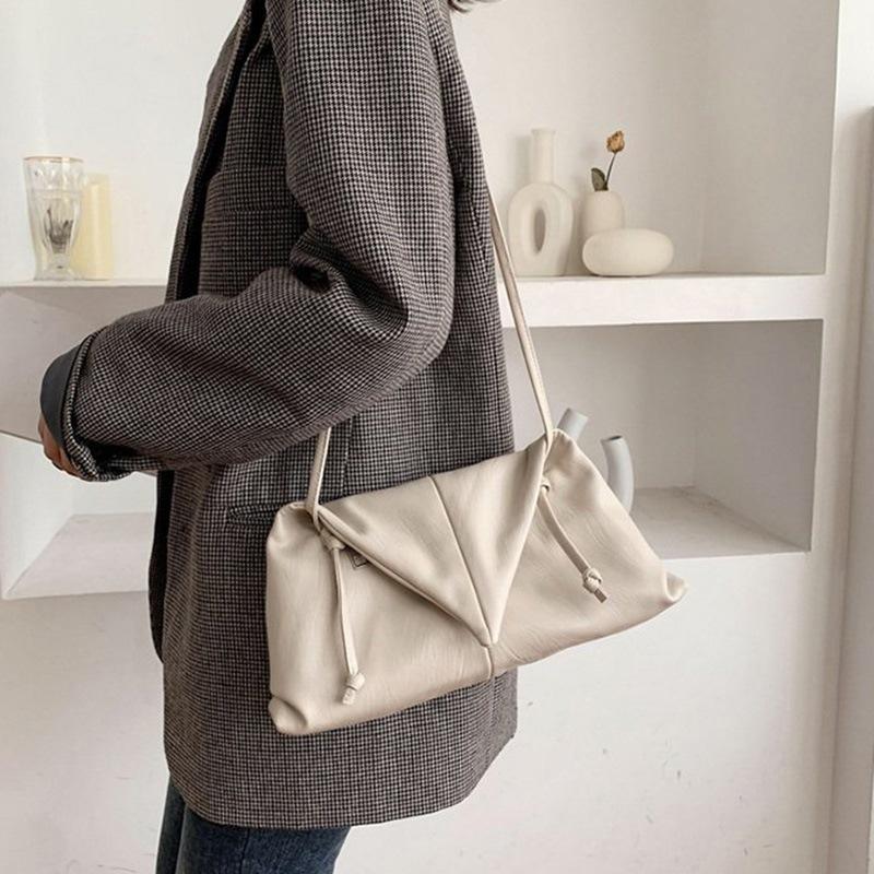 Ericdress PU Plain Thread Rectangle Soft Crossbody Bags
