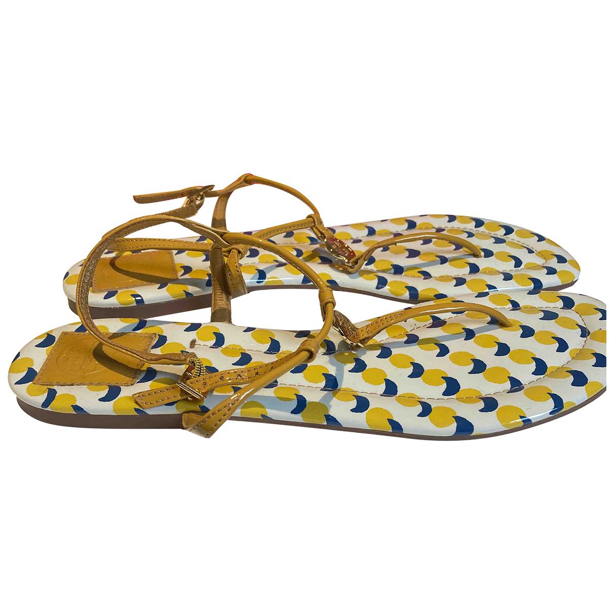 Tory Burch - Sandales   pour femme en cuir - jaune