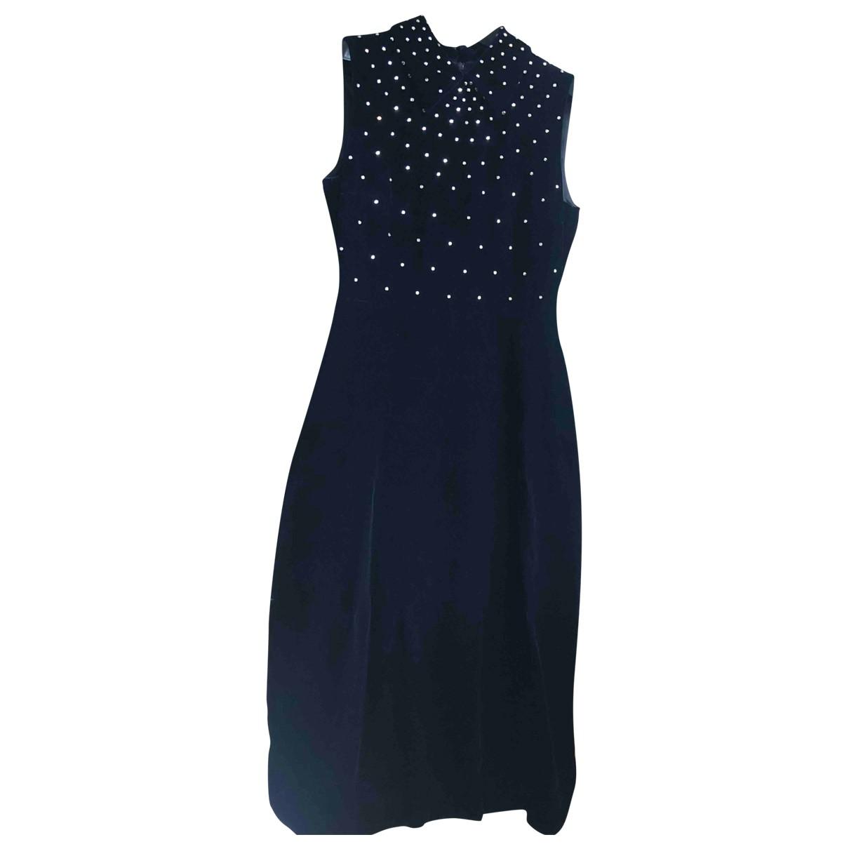 Saint Laurent \N Blue Velvet dress for Women 40 FR