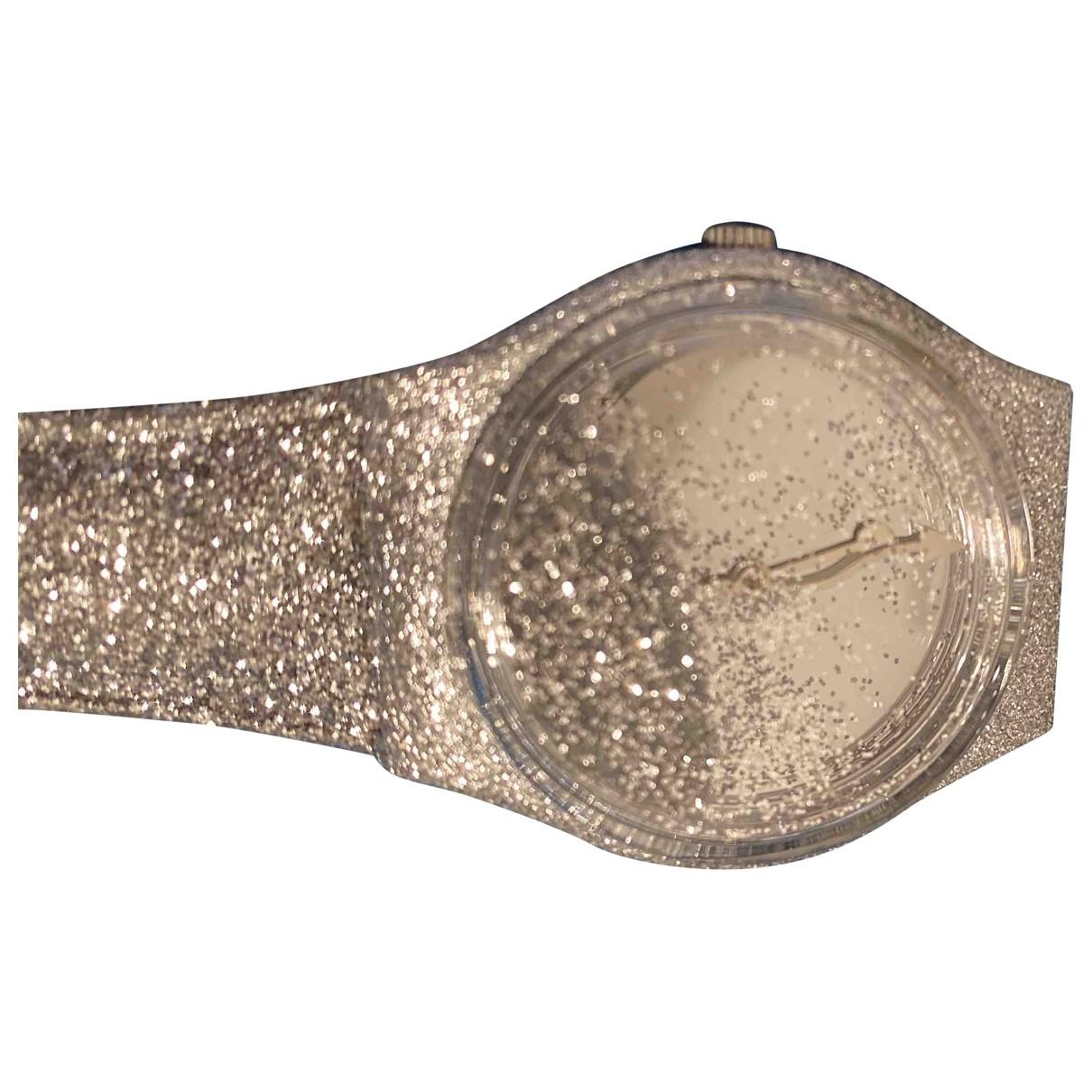 Swatch \N Silver Steel watch for Women \N