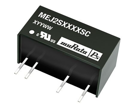 Murata Power Solutions MEJ2 2W Isolated DC-DC Converter Through Hole, Voltage in 4.5 → 5.5 V dc, Voltage out 15V