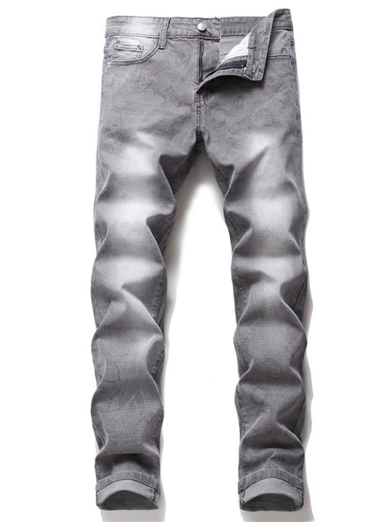 Ericdress Zipper Mid Waist Jeans