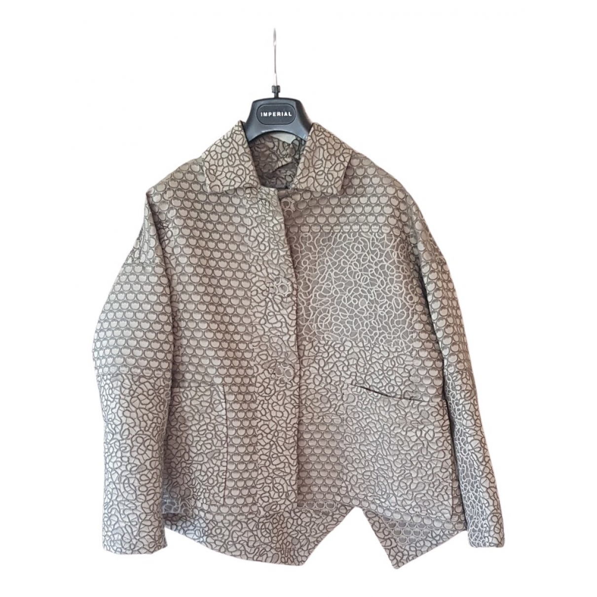 Non Signe / Unsigned \N Jacke in  Ecru Polyester