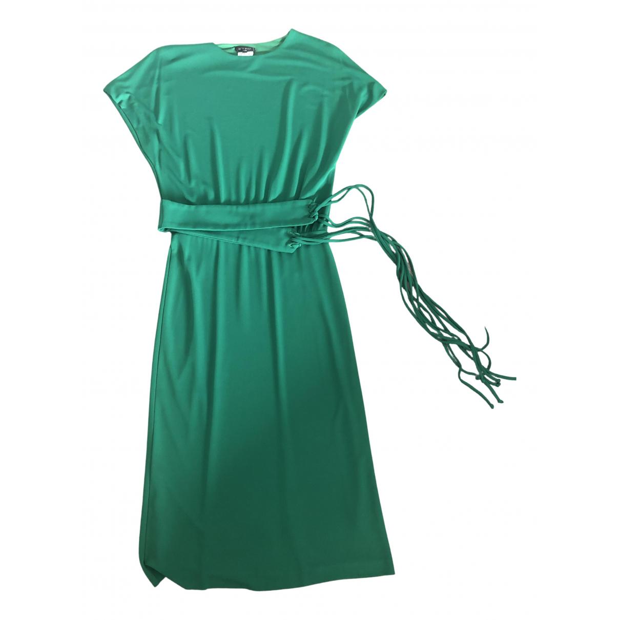 Etro \N Kleid in  Gruen Baumwolle - Elasthan