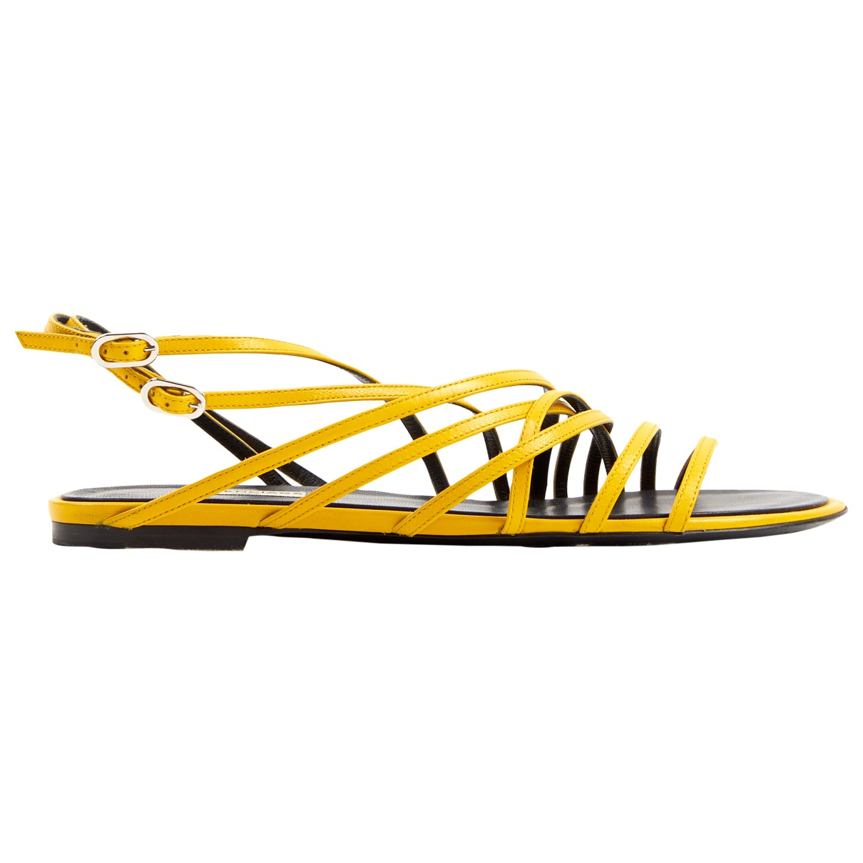 Balenciaga \N Yellow Leather Sandals for Women 39 EU