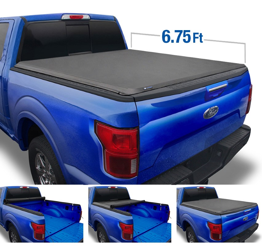 Tyger Auto TG-BC1F9027 T1 Soft Roll Up Truck Bed Tonneau Cover (6.75-Feet) Ford F-250 | F-350 Super Duty 1999-2016