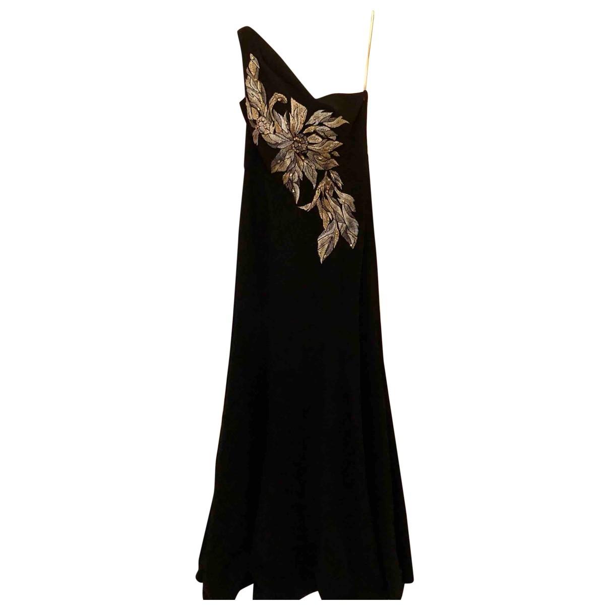 Marchesa Notte \N Kleid in  Schwarz Polyester