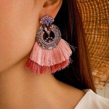 Ohrringe mit Quasten Dekor