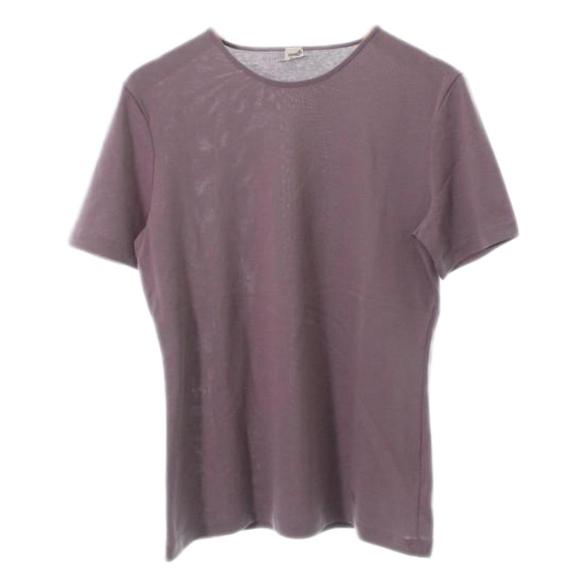 Hermes - Top   pour femme en coton - violet
