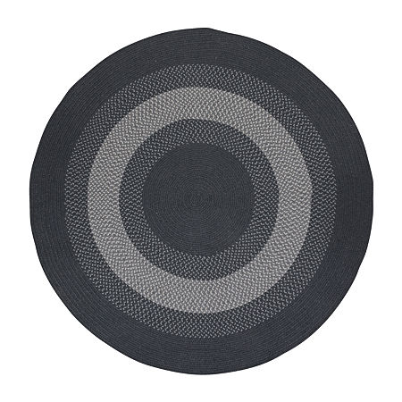 Colonial Mills American Spirit Braided Round Reversible Indoor Rugs, One Size , Gray