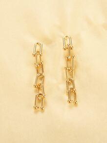 Metal Chain Drop Earrings