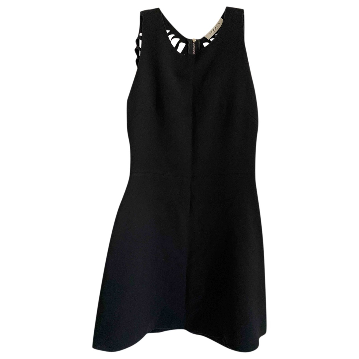 Sandro \N Black Cotton dress for Women 38 FR