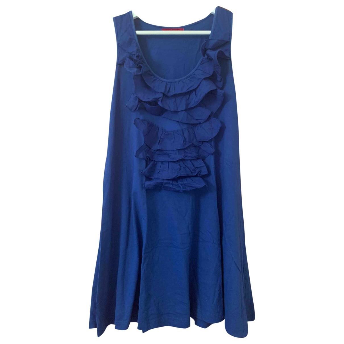 Velvet \N Blue Cotton dress for Women S International
