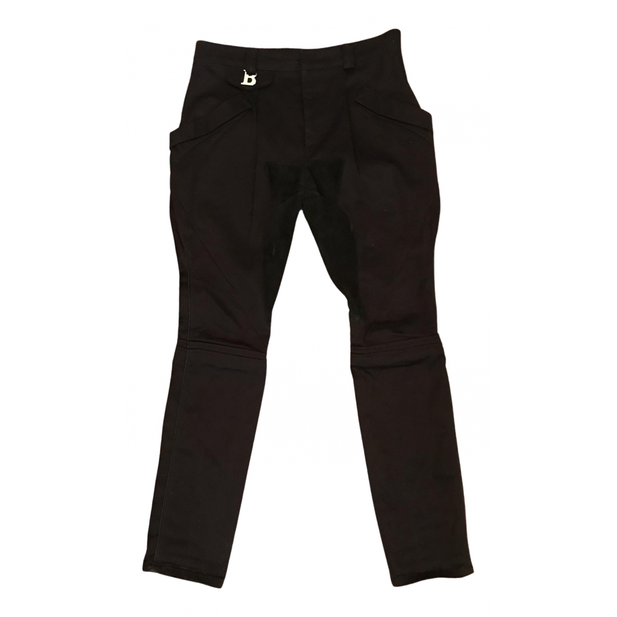 Balenciaga N Black Cotton Trousers for Women 40 FR