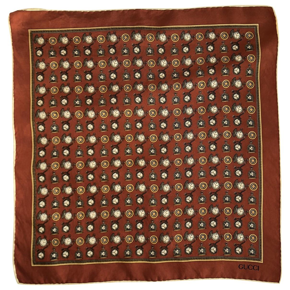 Gucci \N Brown Silk scarf for Women \N