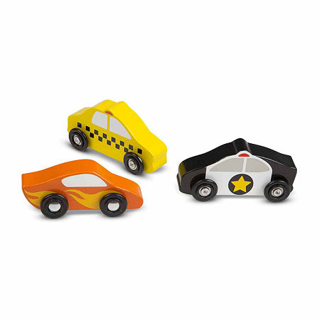 Melissa & Doug Wooden Cars Set, One Size , Multiple Colors