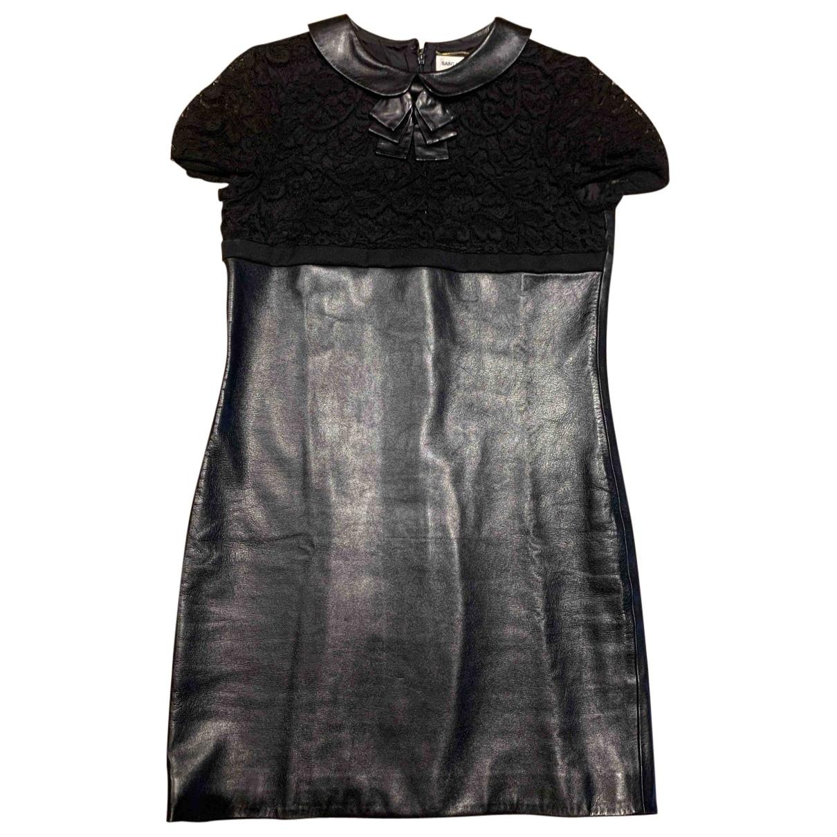 Saint Laurent \N Kleid in  Schwarz Leder
