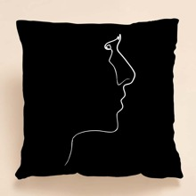 Face Print Cushion Cover Without Filler