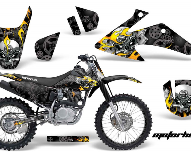 AMR Racing Dirt Bike Graphics Kit Decal Wrap For Honda CRF150 | CRF230F 2008-2014áMOTORHEAD BLACK