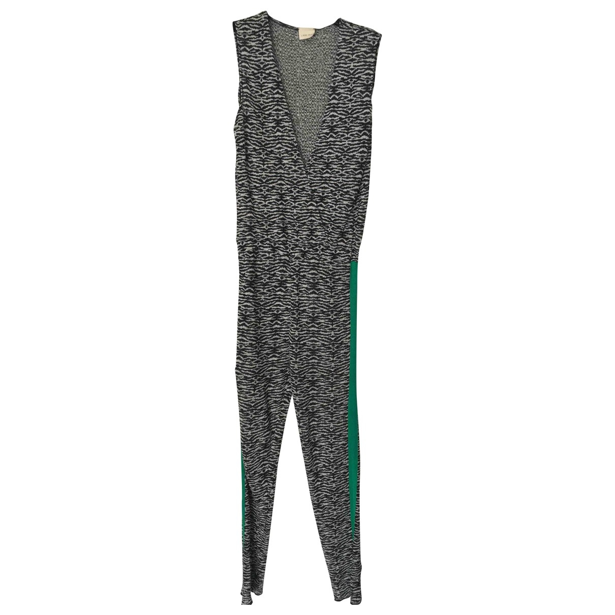 Circus Hotel \N Black Linen jumpsuit for Women 40 IT