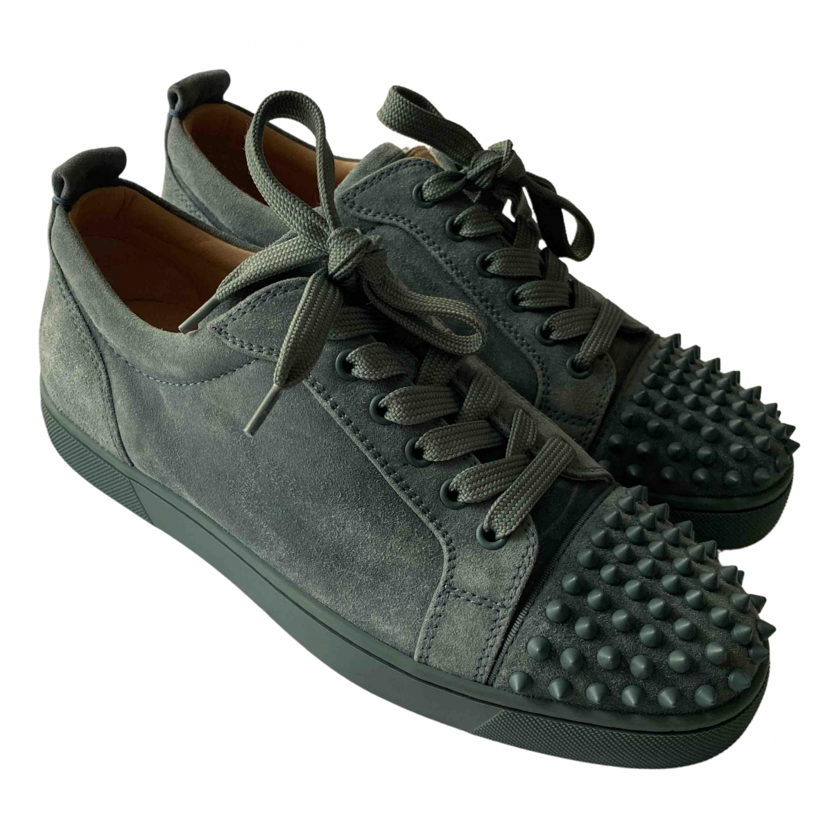 Christian Louboutin Louis junior spike Suede Trainers for Men 40.5 IT