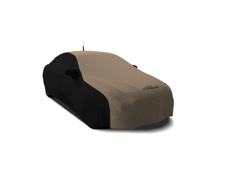 Coverking CVC2SS287PR9299 CVC2SS287 Coverking CVC2SS287PR9299 Satin Stretch 2-Tone Black Sides Sahara Tan Center Class 2 Custom Car Cover Porsche Boxs
