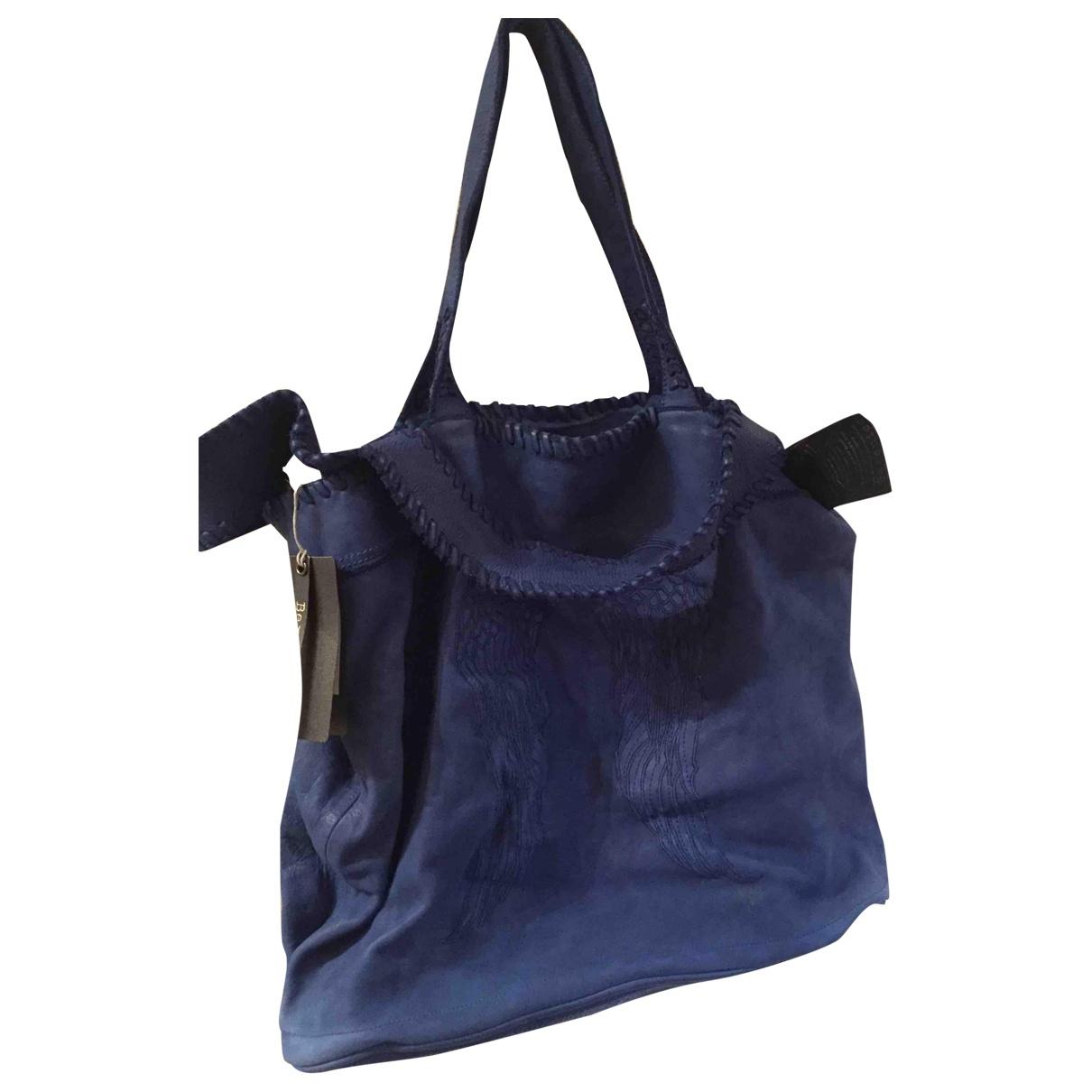 Berenice \N Blue Leather handbag for Women \N