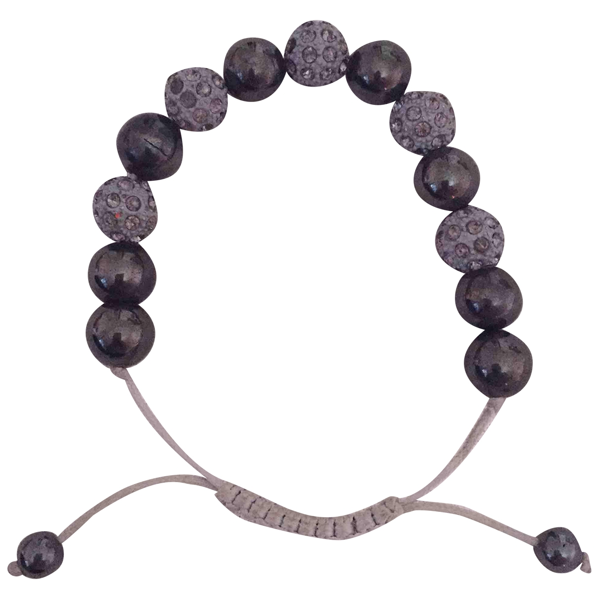 Nialaya \N Anthracite Pearls bracelet for Women \N