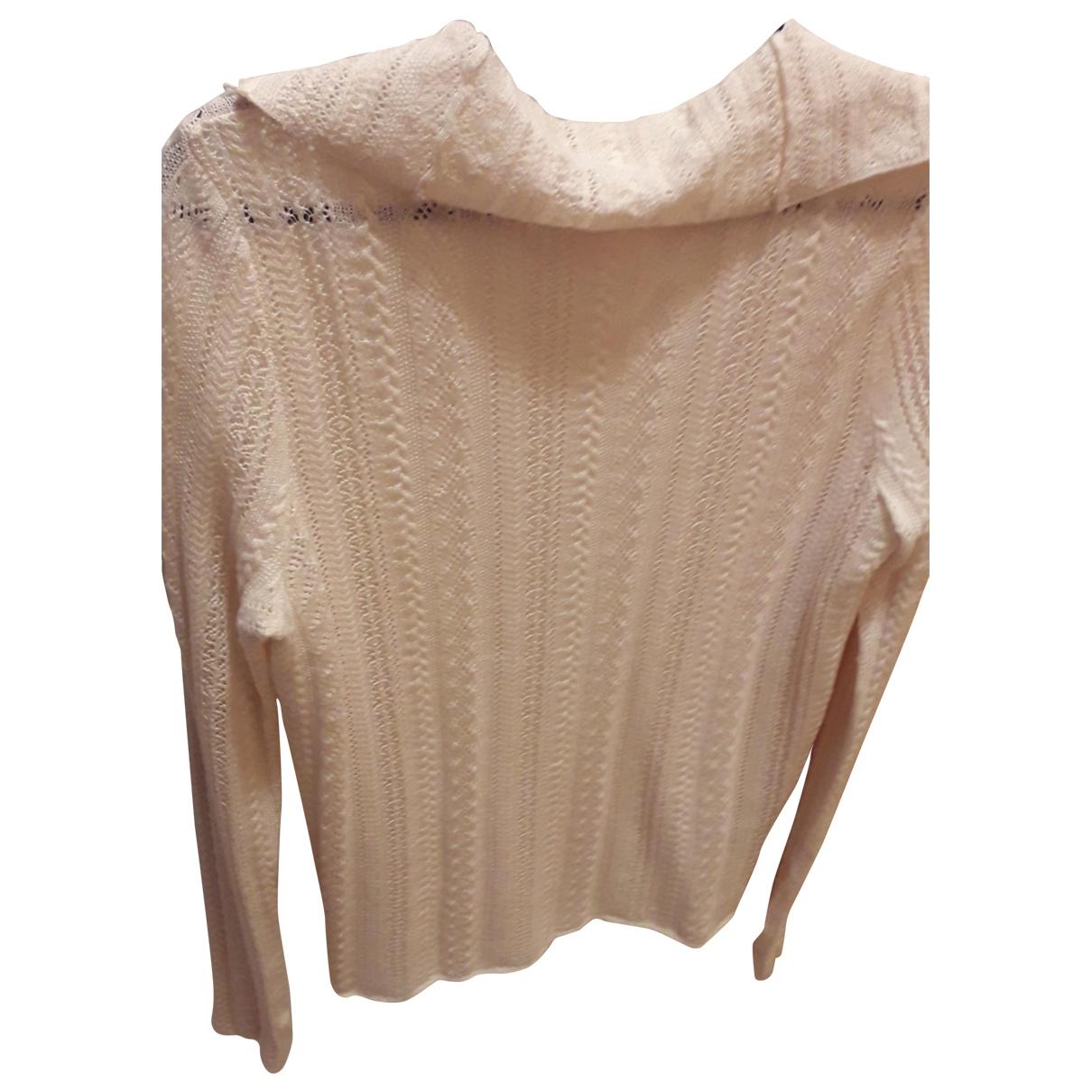 Polo Ralph Lauren - Pull   pour femme en laine - ecru