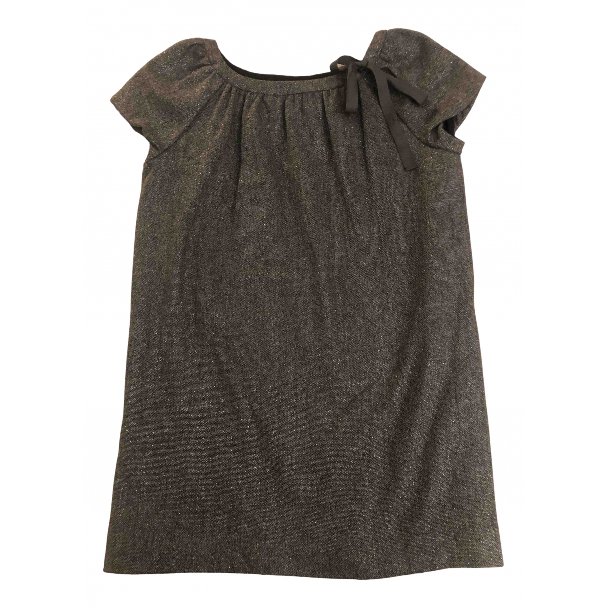 Bonpoint N Grey Wool dress for Kids 10 years - up to 142cm FR