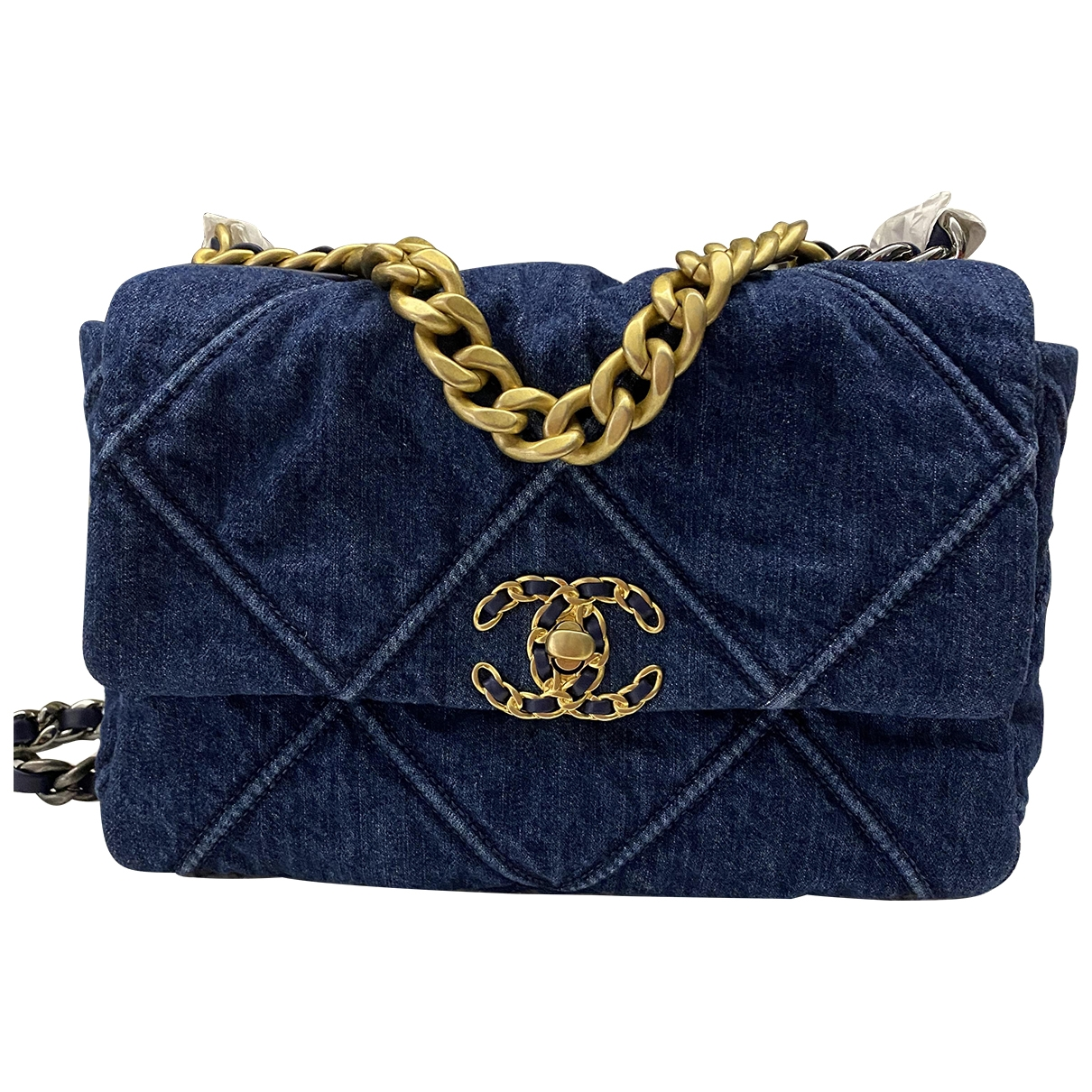 Chanel - Sac a main Chanel 19 pour femme en denim - bleu