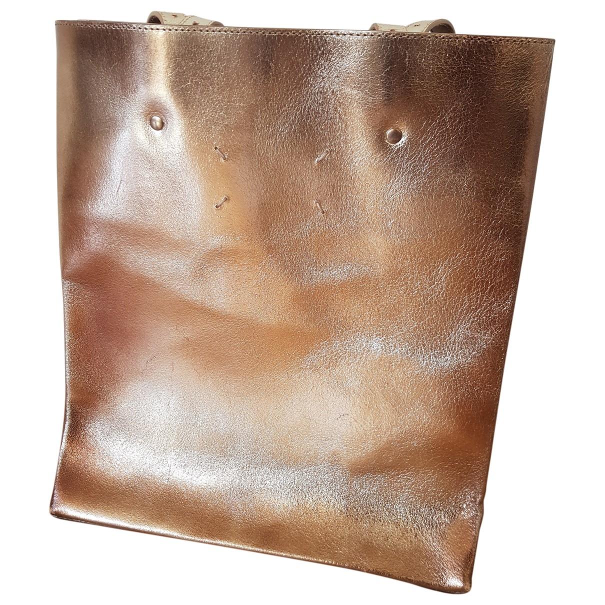 Maison Martin Margiela \N Gold Leather handbag for Women \N