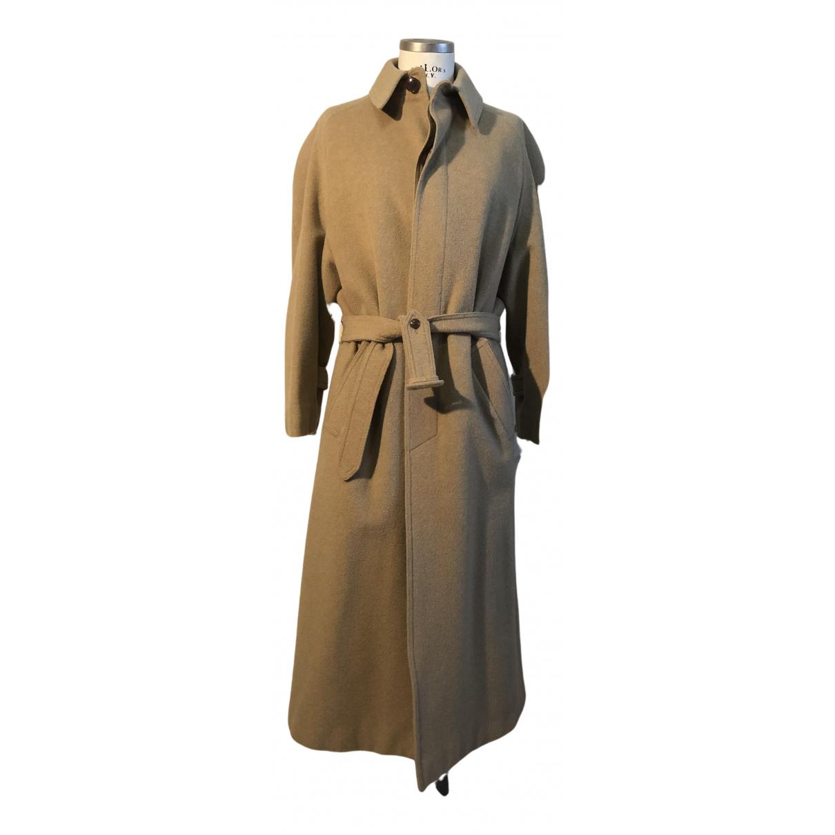Hermes - Manteau   pour femme en laine - camel