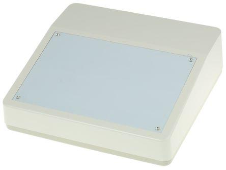 OKW DeskCase 190, ABS, 228 x 216 x 76mm Desktop Enclosure, Grey, White