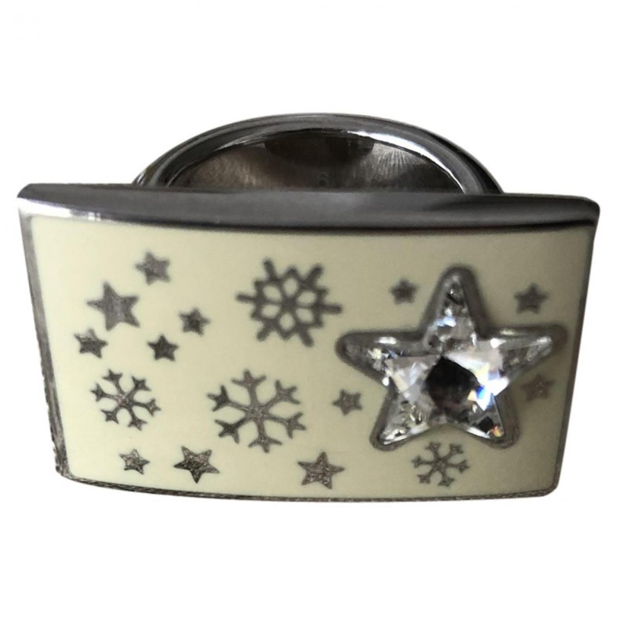 Swatch \N Beige Steel ring for Women \N