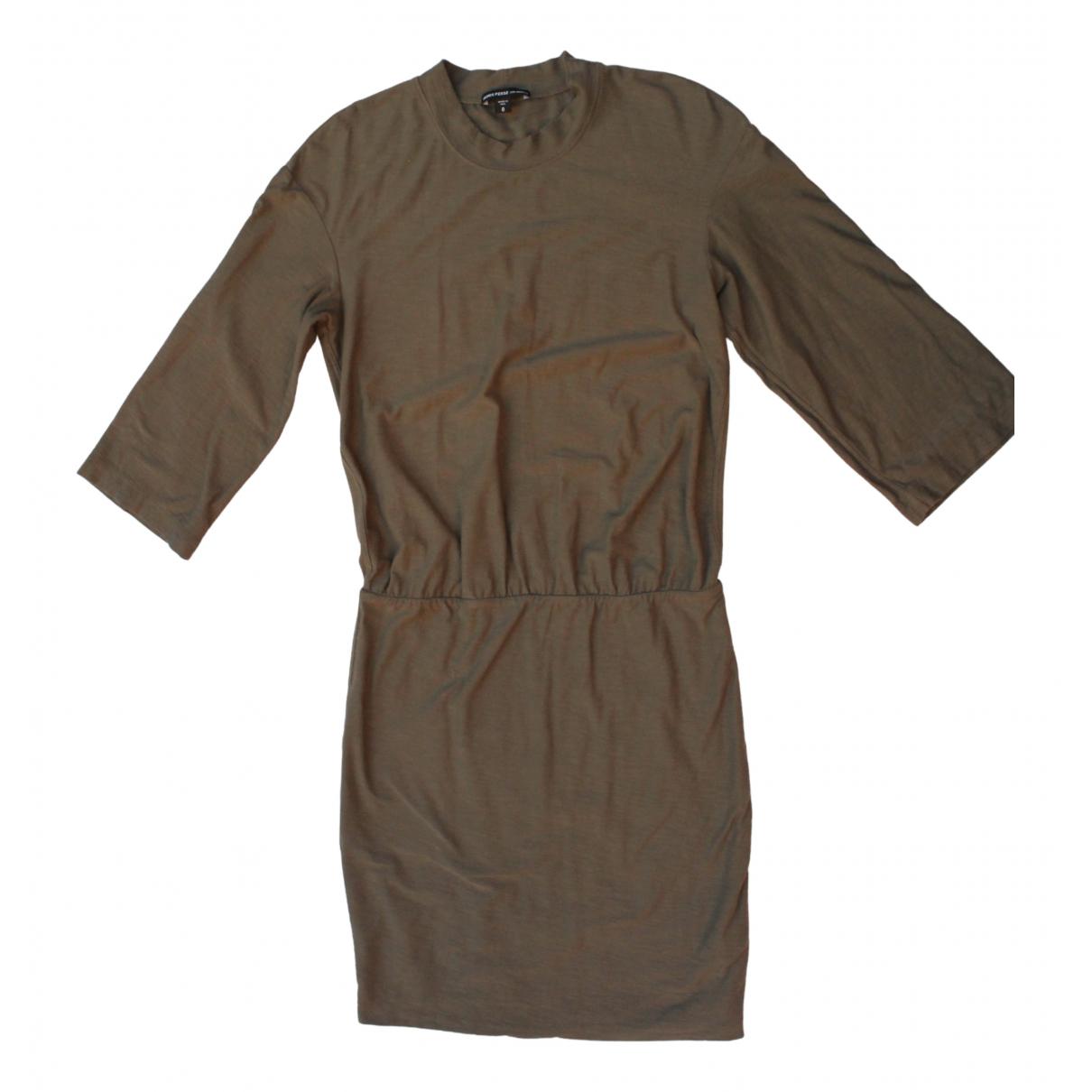 James Perse \N Kleid in  Gruen Baumwolle