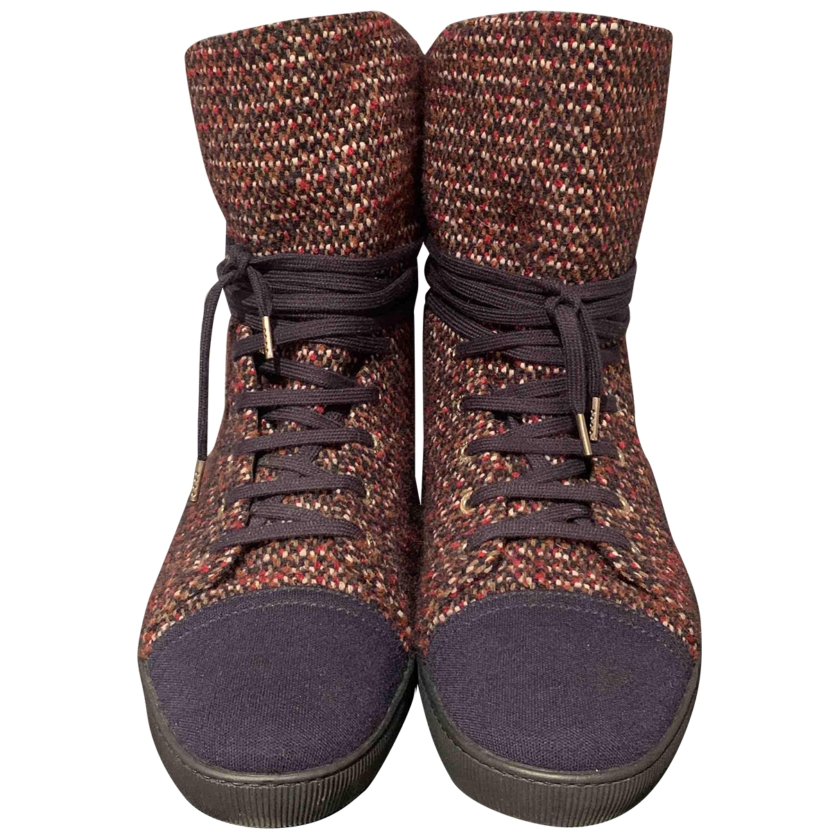 Botas con cordones Tweed Chanel