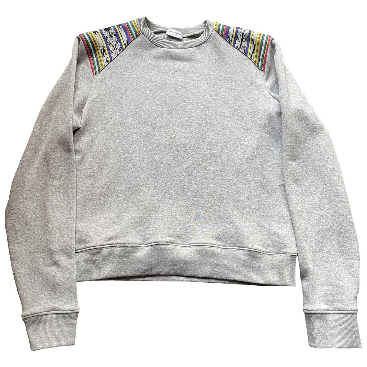 Saint Laurent N Grey Cotton  top for Women L International