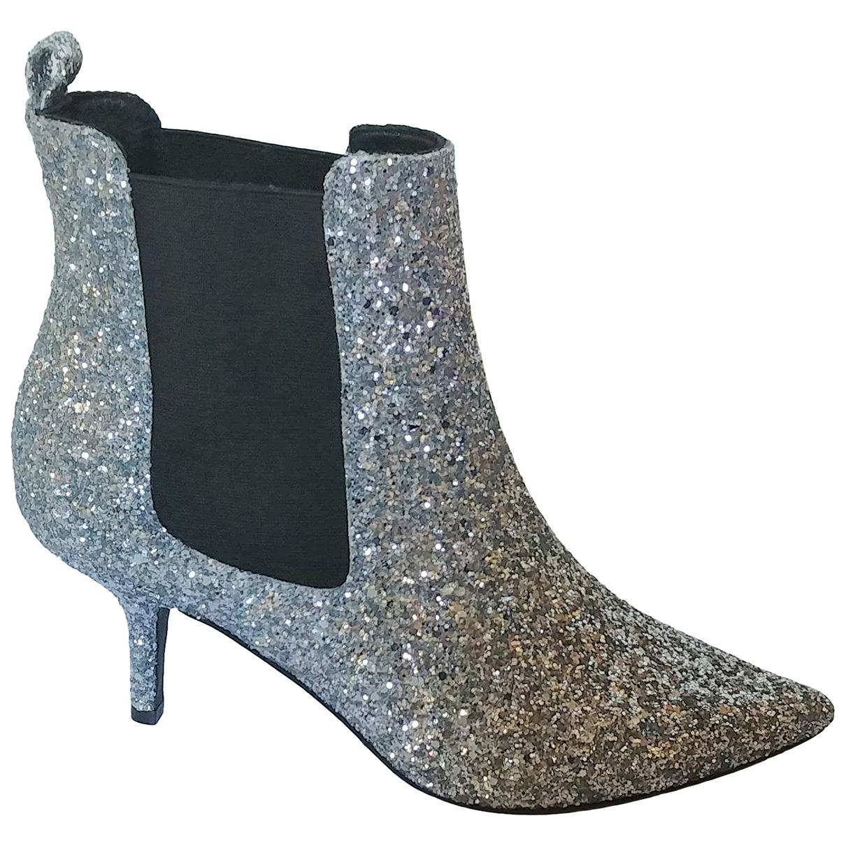 Anine Bing - Boots   pour femme en a paillettes - argente